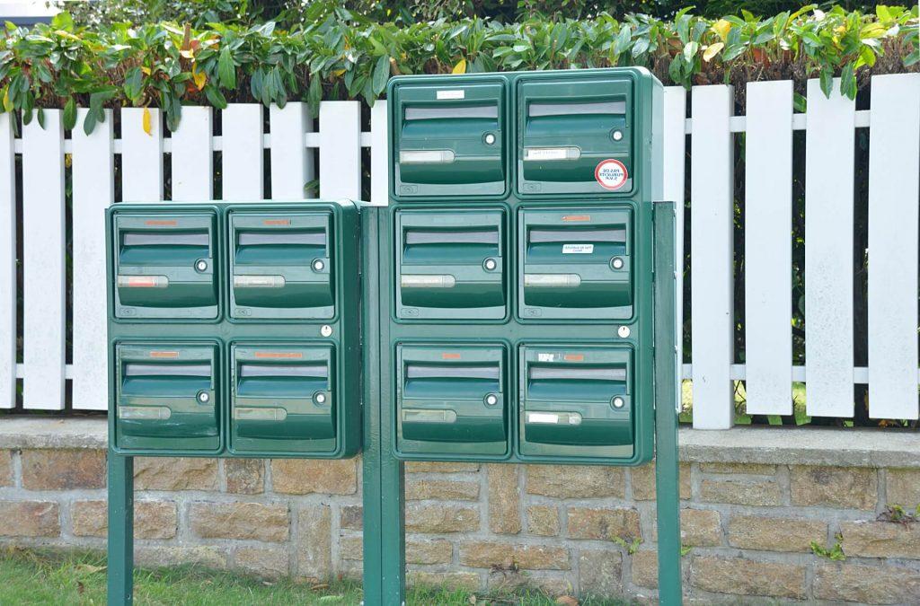 boite aux lettres normalisée 2 portes boite aux lettres collective façade boite aux lettres