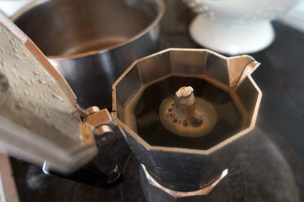 reservoir de café cafetière italienne